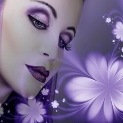 Пазл онлайн: Лиловый свет