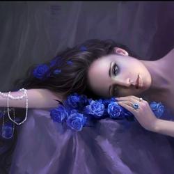 Пазл онлайн: Синие розы
