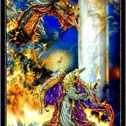 Пазл онлайн: Борьба с драконом