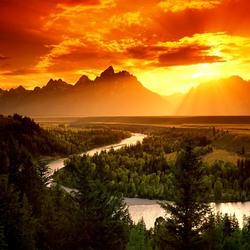 Пазл онлайн: Национальный парк Гранд-Титон