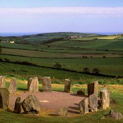 Пазл онлайн: Круг из камней в Дромбеге, Корк, Ирландия