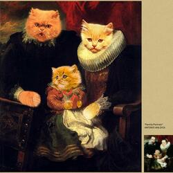 Пазл онлайн: Семья Кошкиных