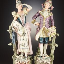 Пазл онлайн: Старинные немецкие статуэтки