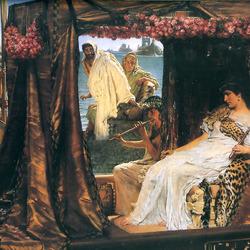 Пазл онлайн: Встреча Антония и Клеопатры