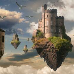 Пазл онлайн: Замок-островок