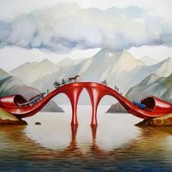 Пазл онлайн: Мост-туфельки