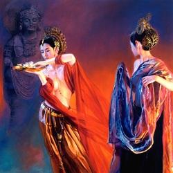 Пазл онлайн: Подношение богине