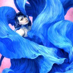 Пазл онлайн: В голубых волнах