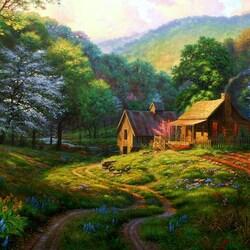 Пазл онлайн: Пейзаж