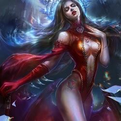 Пазл онлайн: Женщина-вамп
