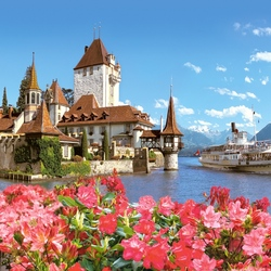 Пазл онлайн: Замок Оберхофен. Швейцария