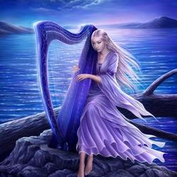 Пазл онлайн: Midnight harp / Полуночная арфа