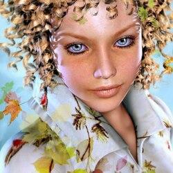 Пазл онлайн: Autumn girl / Девушка осень