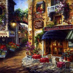 Пазл онлайн: Уличное кафе