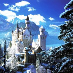 Пазл онлайн: Бавария зимой