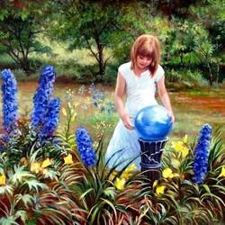 Пазл онлайн: Синий шар