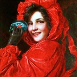 Пазл онлайн: Девушка с маской