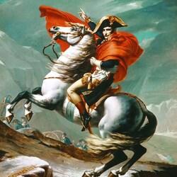 Пазл онлайн: Наполеон на перевале Сен-Бернар
