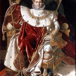 Пазл онлайн: Наполеон, как Юпитер на престоле