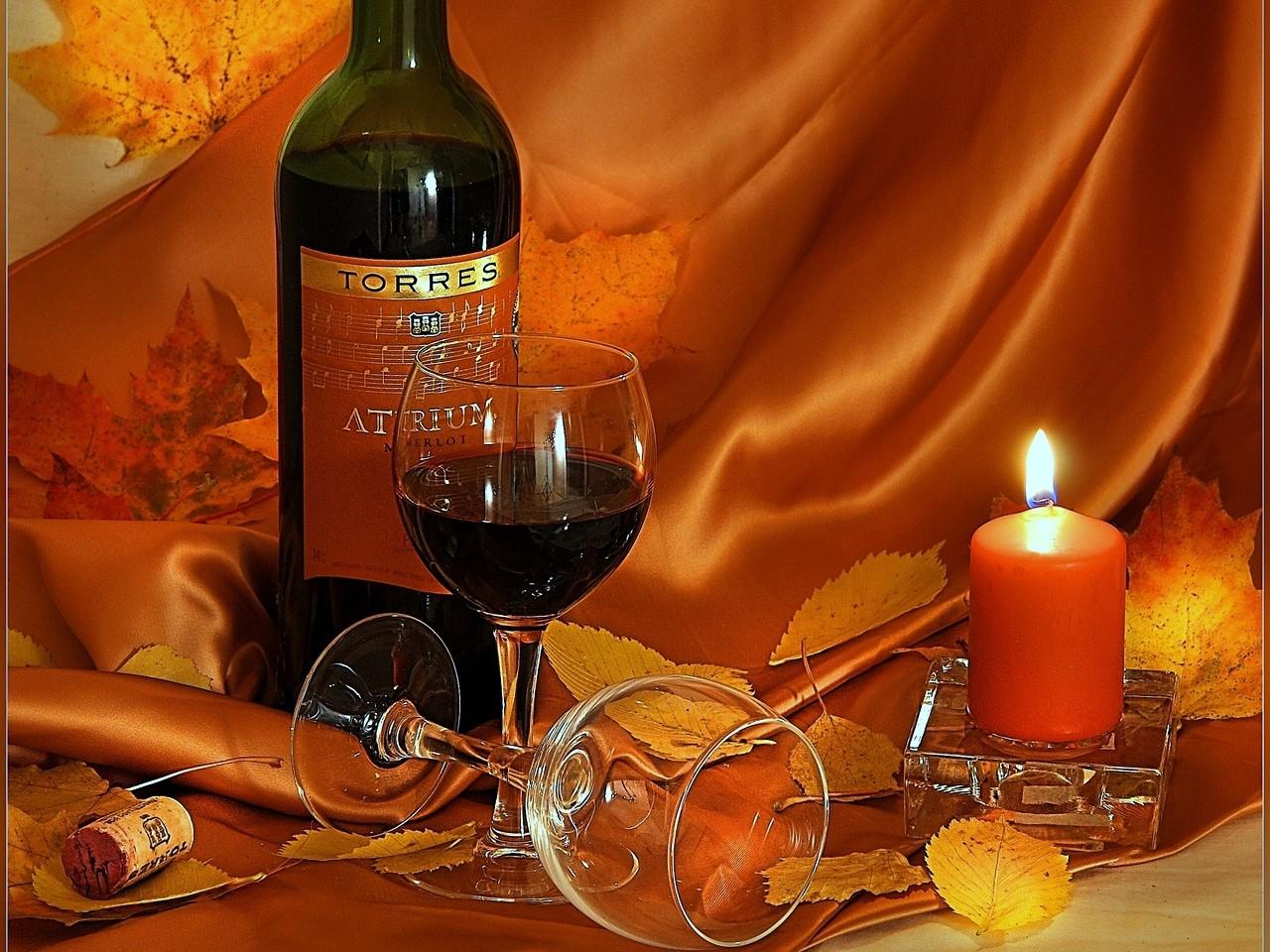 Открытка с добрым вином, про любовь