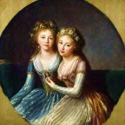 Пазл онлайн: Портрет дочерей императора Павла I