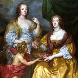 Пазл онлайн: Леди Elizabeth Thimbelby и ее сестра