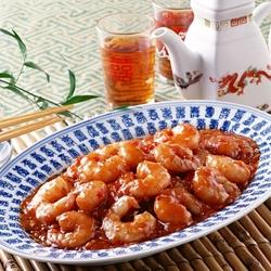 Пазл онлайн: Креветки в соусе