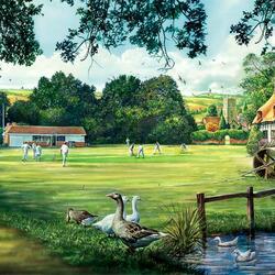 Пазл онлайн: Крикет-клуб
