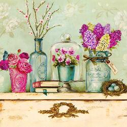 Пазл онлайн: Цветочные открытки
