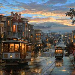 Пазл онлайн: Вечерний Сан-Франциско