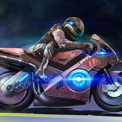 Пазл онлайн: Мотоцикл