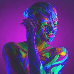 Пазл онлайн: Неоновые краски