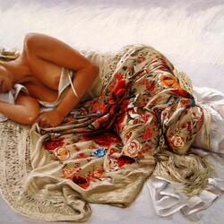 Пазл онлайн: Спящая женщина