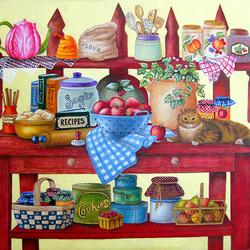 Пазл онлайн: Кухонный стол