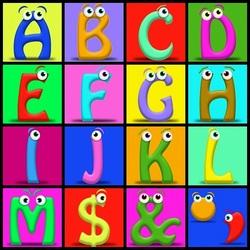 Пазл онлайн: Весёлые буквы