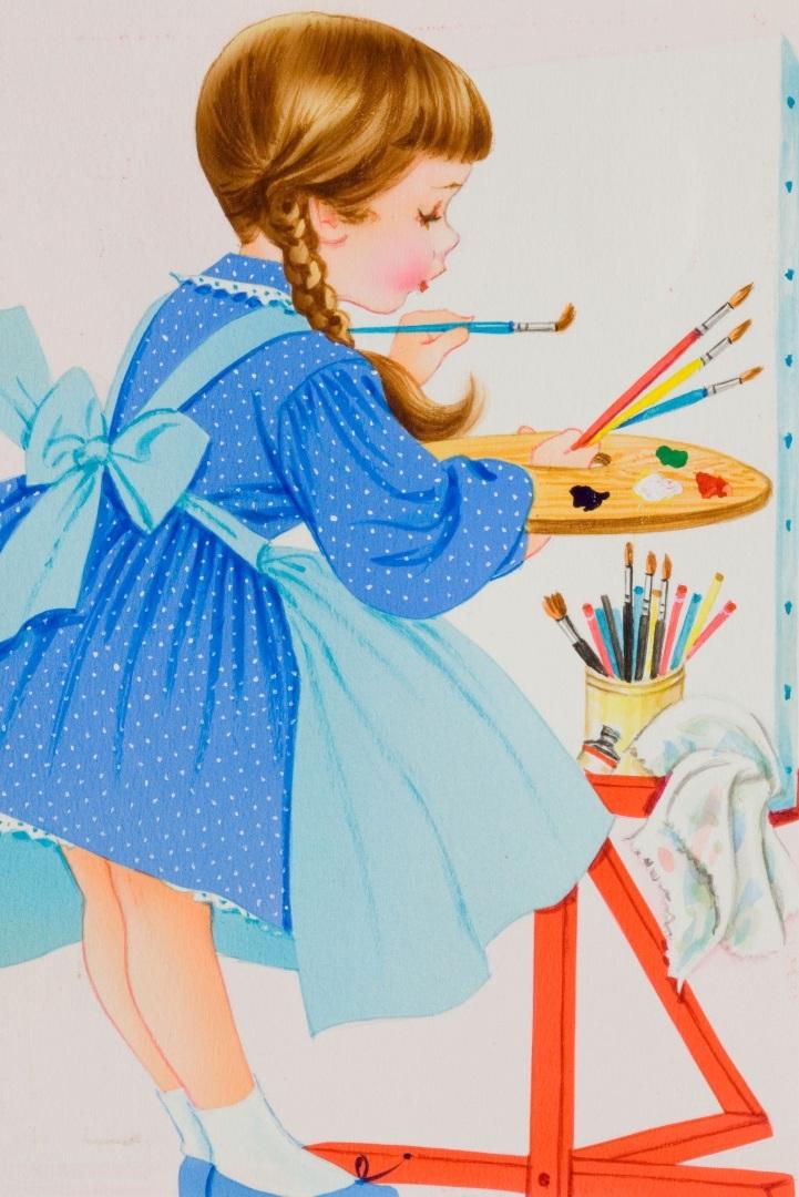 Юный художник открытка, день