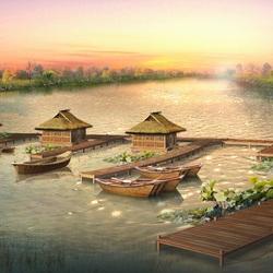 Пазл онлайн: Китайский пейзаж