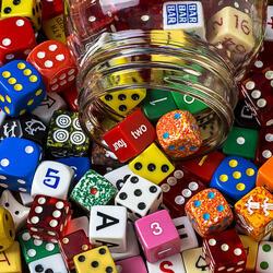 Пазл онлайн: Игральные кубики