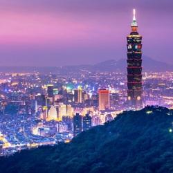 Пазл онлайн: Ночной Тайвань