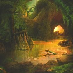 Пазл онлайн: Зелёный берег