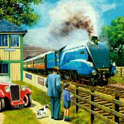 Пазл онлайн: Скоростной поезд