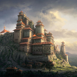 Пазл онлайн: Китайский монастырь