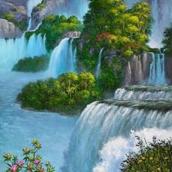 Пазл онлайн: Райский водопад