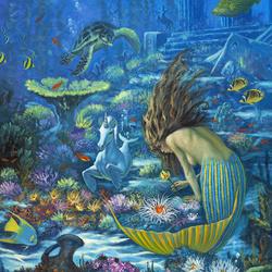 Пазл онлайн: Подводный сад