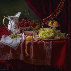 Пазл онлайн: Натюрморт в стиле голландских живописцев