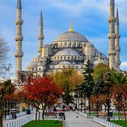 Пазл онлайн: Голубая мечеть