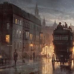 Пазл онлайн: Дождливый Лондон