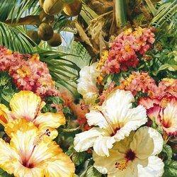 Пазл онлайн: Роскошь тропических цветов