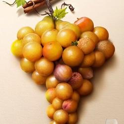 Пазл онлайн: Фруктовый виноград