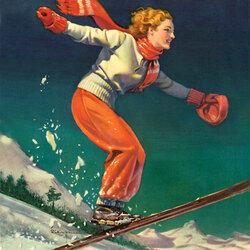 Пазл онлайн: Быстрая лыжница